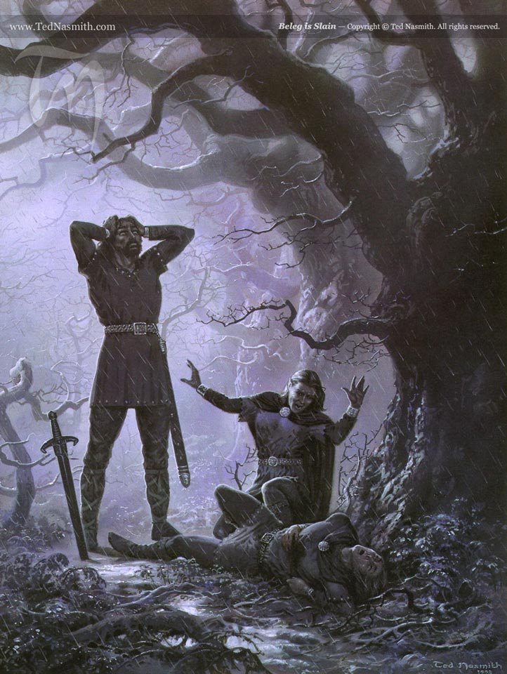 Beleg is Slain – Ted Nasmith