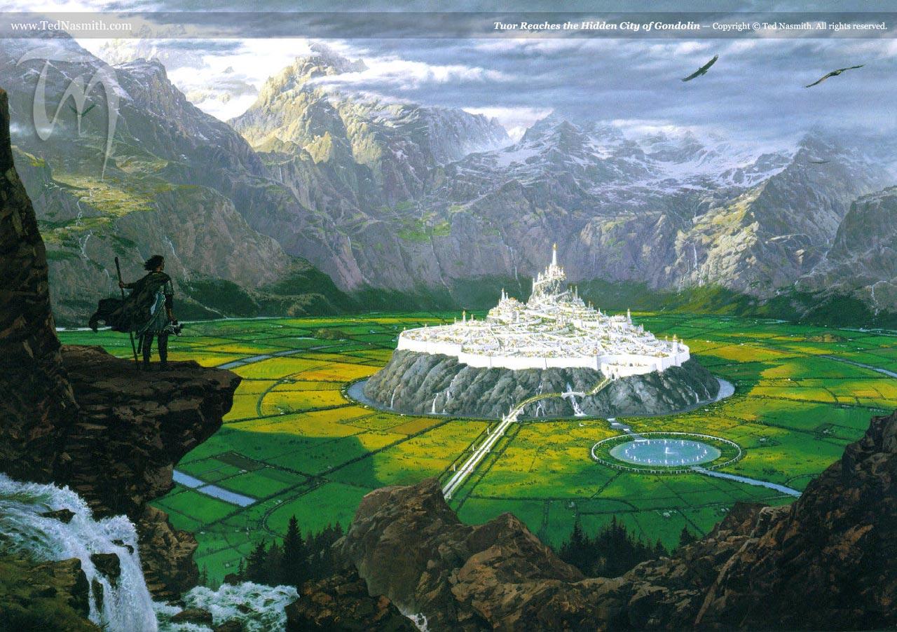 Tuor Reaches the Hidden City of Gondolin » Ted Nasmith